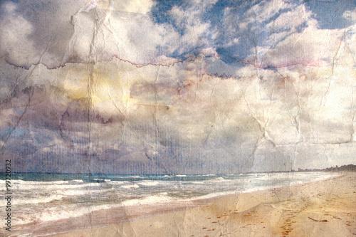 akwarela-krajobraz-ocean-retro