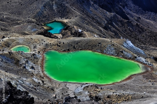 Deurstickers Nieuw Zeeland Emerald Lakes - Mount Tongariro, North Island, New Zealand