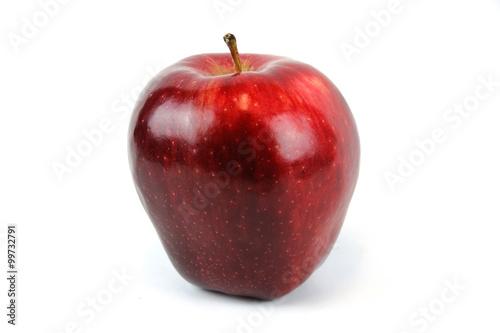 Fotografie, Obraz  single red apple on white background