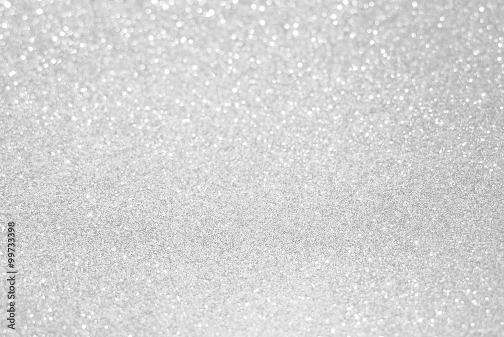 Fototapety, obrazy: white silver glitter bokeh texture christmas abstract background