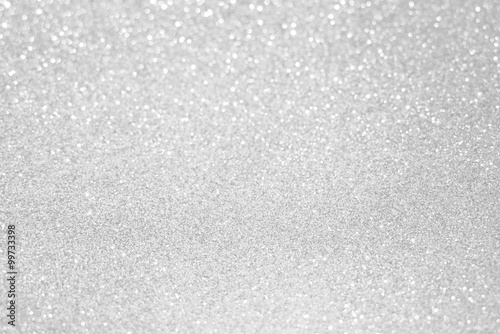 Obraz white silver glitter bokeh texture christmas abstract background - fototapety do salonu