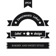 retro style label set 3 in 1 black color
