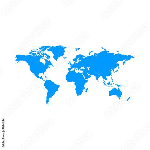 Foto op Aluminium Wereldkaart World Map Illustration