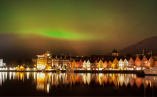 Green Northern Lights Above Th...