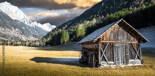 Fotografie, Obraz  vecchia baita alpestre