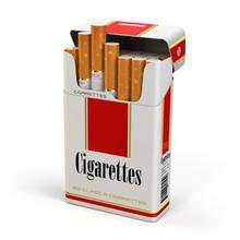 Cigarette Pack On White Isolat...