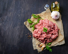 Raw Minced Meat With Olive Oil...