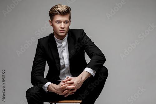 Fotografie, Obraz  Portrait of a young handsome business man.