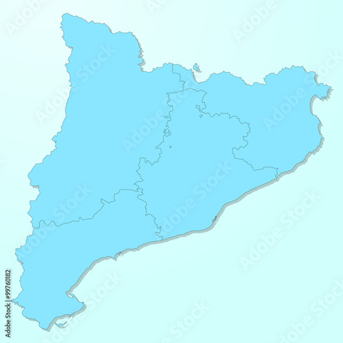 Catalonia map on blue degraded background vector – kaufen Sie se on