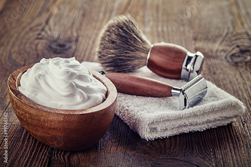 Fotografering Shaving accessories