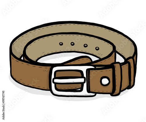 Brown Belt Cartoon Vector And Illustration Hand Drawn Style Isolated On White Background Buy This Stock Vector And Explore Similar Vectors At Adobe Stock Adobe Stock