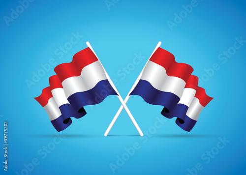 Canvas Print netherlands flag