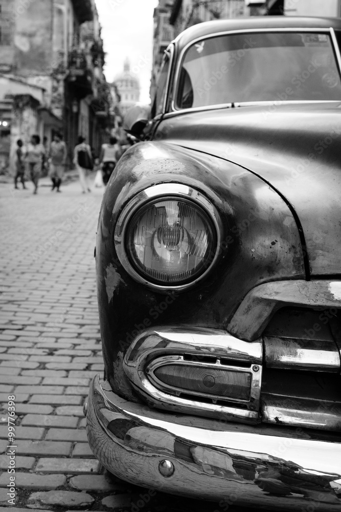 Fotografie, Tablou  Oldtimer auf Kuba