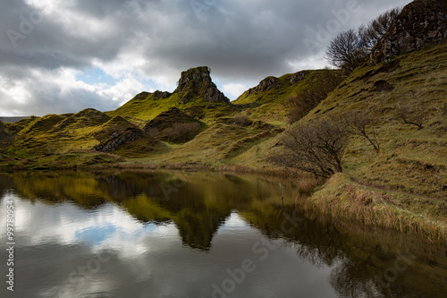 Photo  Scotland fairy glen landscape