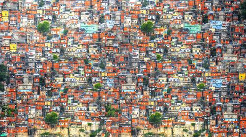 La pose en embrasure Rio de Janeiro Favela