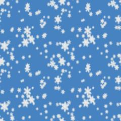 Seamless pattern of defocused falling snow