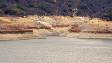Low Water Levels At Lake Cachuma Due To Severe California Drough