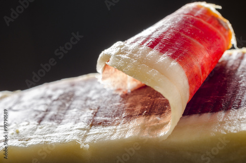 Fotomural  Jamón ibérico español, jamón de bellota.
