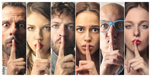 Fototapety, obrazy: Be silent
