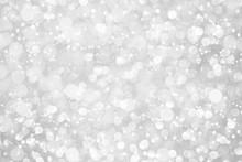 White Silver Glitter Bokeh Wit...
