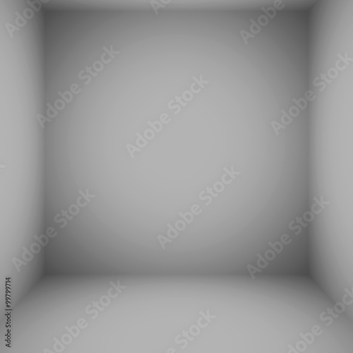 Fototapety, obrazy: Empty Circular Grey with Black vignette Studio backdrop well use