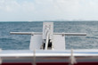Ready to drop anchor in the Caribbean sea