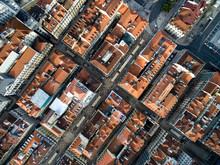 Top View Of Lower Town, Lisbon...
