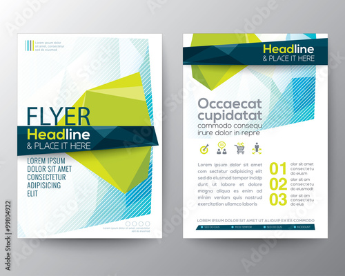 buy brochure templates - abstract low polygon background for poster brochure flyer