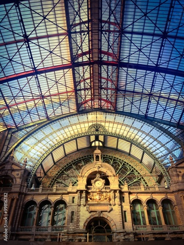 Canvas Prints Antwerp top architecture in the antwerp railway station