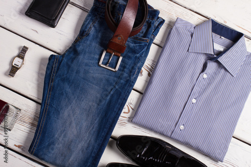 Fotografie, Obraz  Stylish business clothing for businessman.