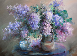 Fototapeta Romantyczny Lilac painting