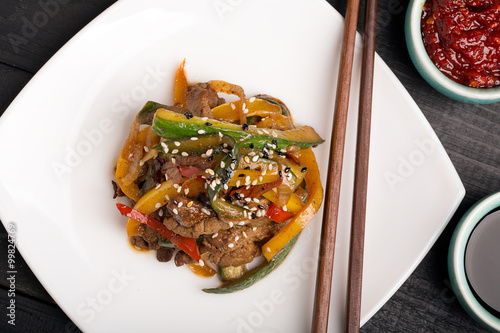 Traditional chinese salad Fototapet