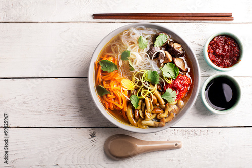 Traditional chinese soup Canvas Print