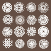 Round Lace Collection Vector Illustration