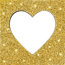 Gold Glitter Texture And Heart...