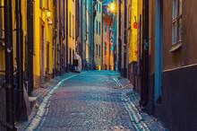 The Narrow Street Of Gamla Sta...
