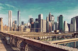 Brooklyn Bridge and Manhattan, New York City