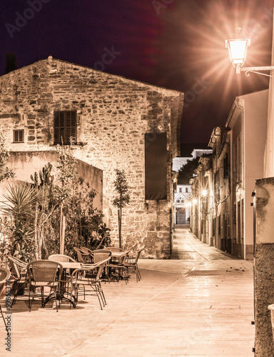 View of a old town place at night - 99855374