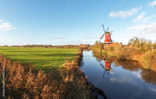 Poster Molens Greetsiel, traditional Windmill