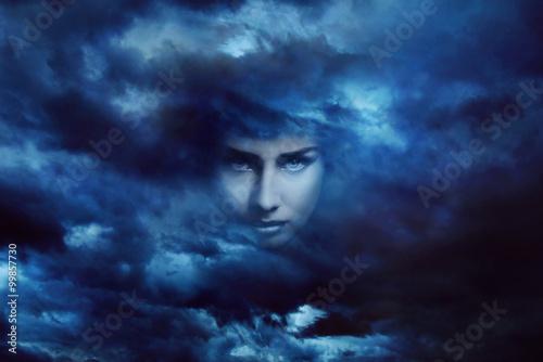 Fotografie, Obraz  Storm goddess face
