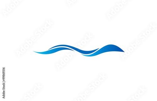 Obraz na płótnie abstract wave logo vector