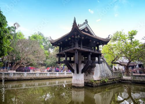 Hanoi, Vietnam - One Pillar Pagoda. Famous Buddhist temple and popular tourist attraction