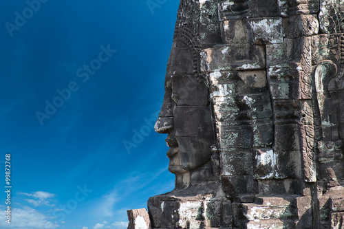 Fotografia  Cambodian landmark background. Ruins of ancient temples