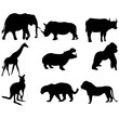 Set of animals silhouettes, Vector