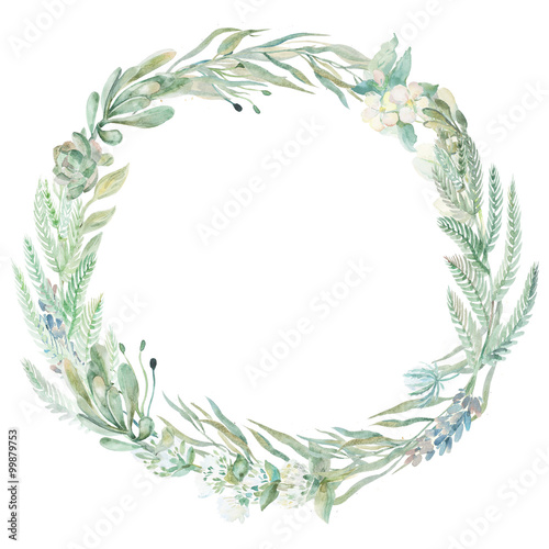 Photo  Wedding invitation wreath.