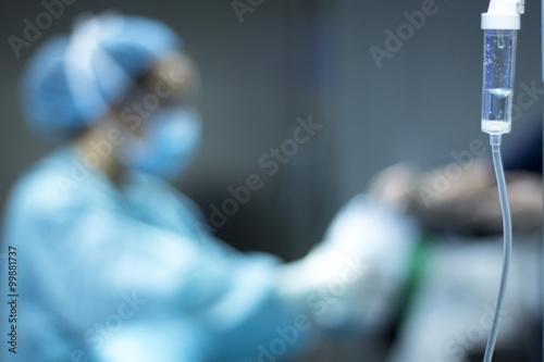 Fotografia  Hospital surgery operating room equipment