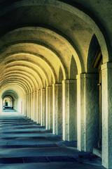 Panel Szklany Rzym Mystic Ancient Stone Corridor Rome