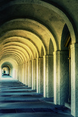 Fototapeta Rzym Mystic Ancient Stone Corridor Rome
