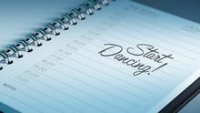 Closeup Of A Personal Calendar...