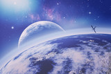 On the Earth orbit. Universe. Abstract science backgrounds. NASA - 99890594